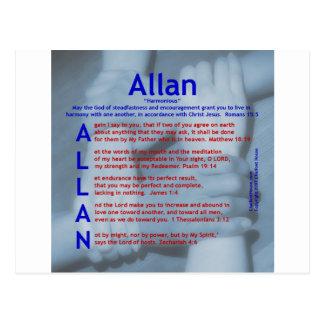 Acrostic de Allan Tarjetas Postales