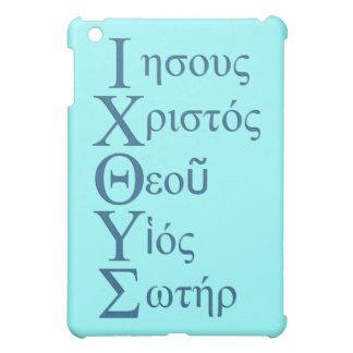 Acrostic de IXOYE (azul) iPad Mini Cárcasa