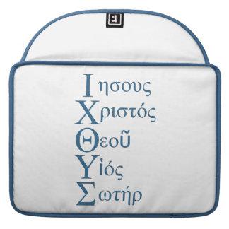 Acrostic de IXOYE (azul) Fundas Macbook Pro