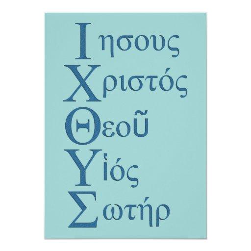 Acrostic de IXOYE (azul) Invitación