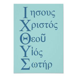 "Acrostic de IXOYE (azul) Invitación 5"" X 7"""