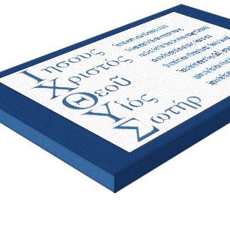 Acrostic de IXOYE (azul) Impresión En Lienzo Estirada