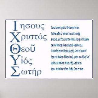 Acrostic de IXOYE (azul) Posters