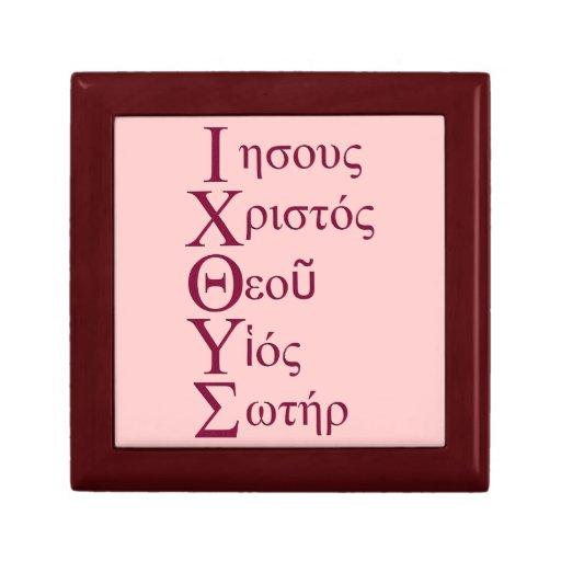 Acrostic de IXOYE (rojo) Caja De Joyas