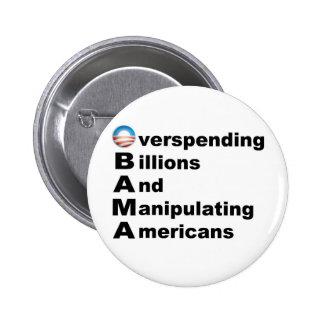 Acrostic de Obama Pin Redondo De 2 Pulgadas