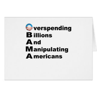 Acrostic de Obama Tarjeta De Felicitación