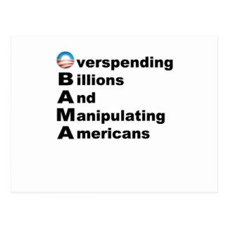 Acrostic de Obama Tarjeta Postal