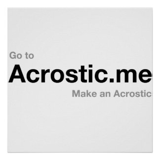 Acrostic Poem 50% donated to persecuted Christians Poster