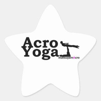 AcroYoga simple logo/akuroyogashinpururogo Star Sticker