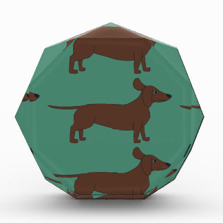 Acrylic Award with Dachshund Design