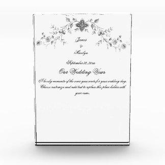Acrylic Block Wedding Vows Memento Awards