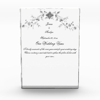 Acrylic Block Wedding Vows Memento