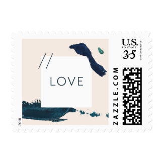Acrylic Brush Stroke Love Postage