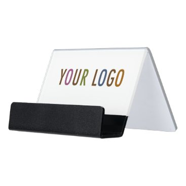 Professional Business Acrylic Business Card Holder with Company Logo
