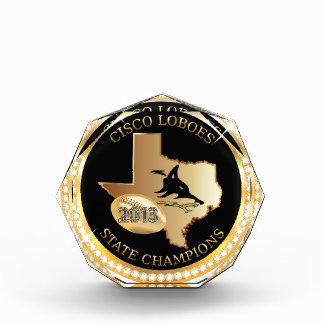 Acrylic crystal - Cisco Loboes state champs Acrylic Award