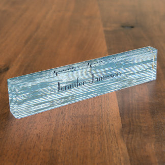 Acrylic Desk Nameplate, Reflection Abstract Desk Name Plate