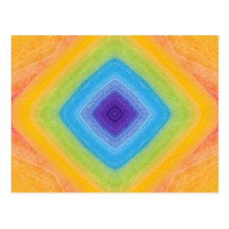 Acrylic Diamond Rainbow Pattern Postcard