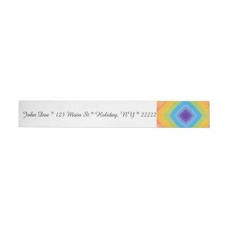 Acrylic Diamond Rainbow Pattern Wraparound Address Label
