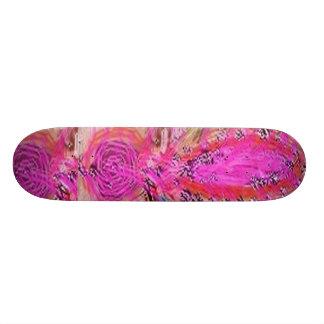 Acrylic FUN PINK Paint Skateboard Decks