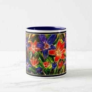 """""""Acrylic Garden"""" Two-Tone Mug"""