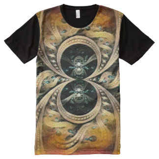 Acrylic Infinity Spider Symbol Paint All-Over-Print T-Shirt