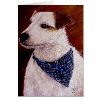 Acrylic Jack Russell Greeting Card