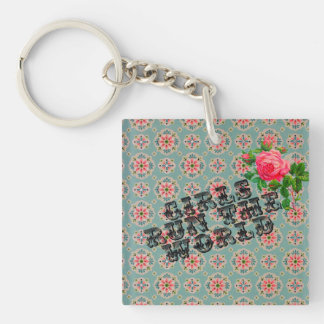 Acrylic keychain vintage wallpaper