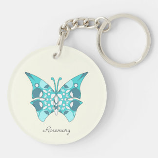 Acrylic Keychain with Pattern and Monogram
