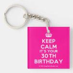 [Crown] keep calm it's your 30th birthday  Acrylic Keychains