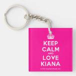 [Crown] keep calm and love kiana  Acrylic Keychains