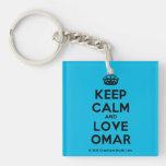 [Crown] keep calm and love omar  Acrylic Keychains