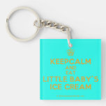[Cupcake] keepcalm and eat little baby's ice cream  Acrylic Keychains