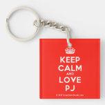 [Crown] keep calm and love pj  Acrylic Keychains