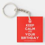 [Cupcake] keep calm its your birthday  Acrylic Keychains
