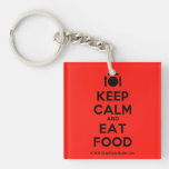 [Cutlery and plate] keep calm and eat food  Acrylic Keychains