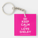 [Knitting crown] keep calm and love shelby  Acrylic Keychains