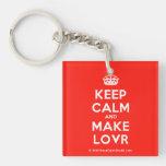 [Crown] keep calm and make lovr  Acrylic Keychains
