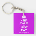 [Cutlery and plate] keep calm and just eat  Acrylic Keychains