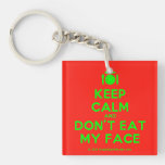 [Cutlery and plate] keep calm and don't eat my face  Acrylic Keychains