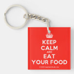 [Crown] keep calm and eat your food  Acrylic Keychains