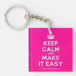 [Crown] keep calm and make it easy  Acrylic Keychains