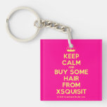 [Knitting crown] keep calm and buy some hair from xsquisit  Acrylic Keychains