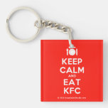 [Cutlery and plate] keep calm and eat kfc  Acrylic Keychains