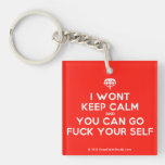 [Crown upside down] i wont keep calm and you can go fuck your self  Acrylic Keychains