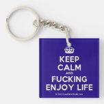 [Crown] keep calm and fucking enjoy life  Acrylic Keychains