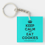 [Crown] keep calm and eat cookies  Acrylic Keychains