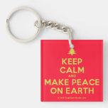 [Xmas tree] keep calm and make peace on earth  Acrylic Keychains