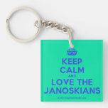 [Crown] keep calm and love the janoskians  Acrylic Keychains