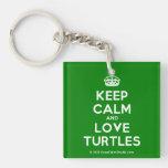 [Crown] keep calm and love turtles  Acrylic Keychains