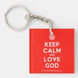 [Cupcake] keep calm and love god  Acrylic Keychains